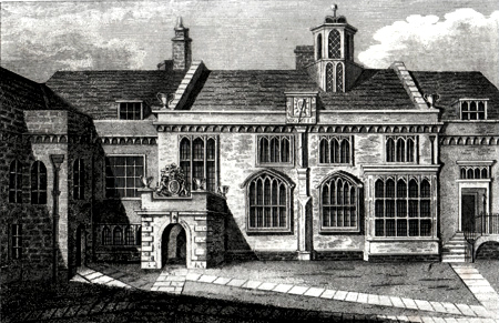 ANTIQUE PRINT: CHARTER HOUSE GREAT HALL.