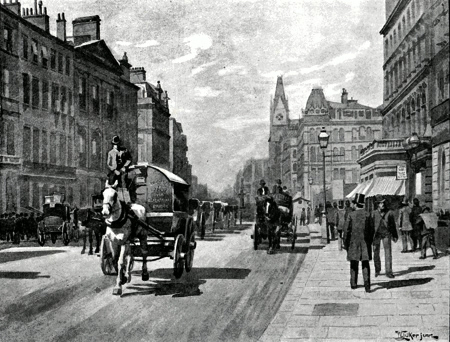 ANTIQUE PRINT: NEW BRIDGE STREET, BLACKFRIARS.