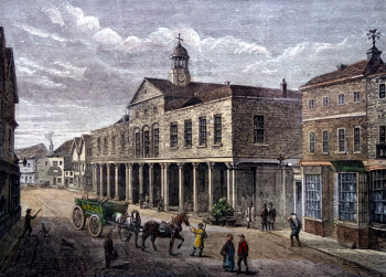 Antique print of Uxbridge