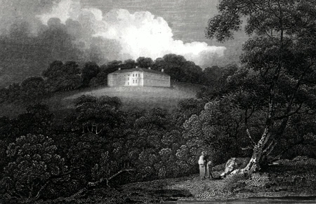 Antique print of Honiton