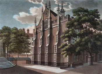 Antique print of Middle Temple