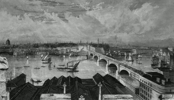 ANTIQUE PRINT: LONDON FROM THE TOWER OF SAINT SAVIOUR'S.