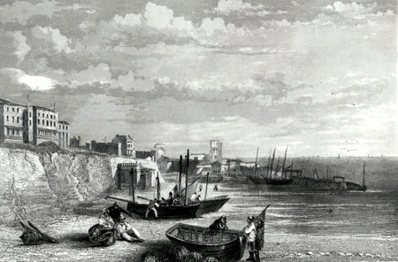 ANTIQUE PRINT: BROADSTAIRS.