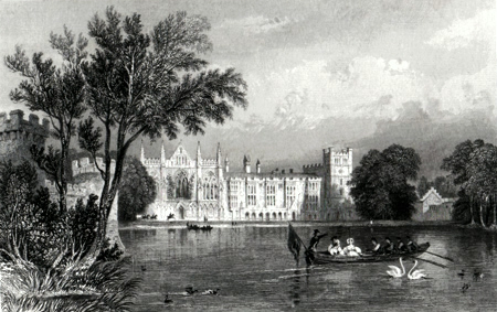 ANTIQUE PRINT: NEWSTEAD ABBEY.