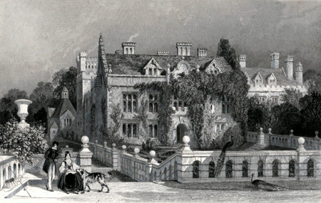 ANTIQUE PRINT: NEWSTEAD ABBEY, NOTTINGHAMSHIRE.