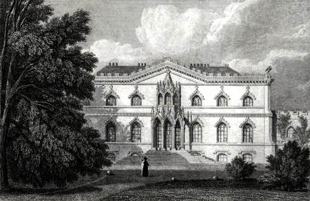 ANTIQUE PRINT: BISHOPTHORPE PALACE, YORKSHIRE. THE SEAT OF THE ARCHBISHOP OF YORK.
