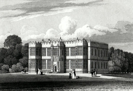 ANTIQUE PRINT: HOWSHAM HALL, YORKSHIRE. THE SEAT OF HENRY CHOLMLEY ESQ.RE.