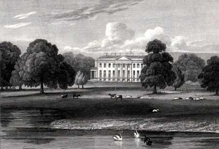 ANTIQUE PRINT: STAPLETON PARK. YORKSHIRE.