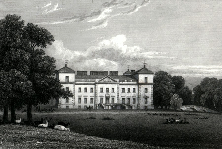 ANTIQUE PRINT: CROME COURT. WORCESTERSHIRE.