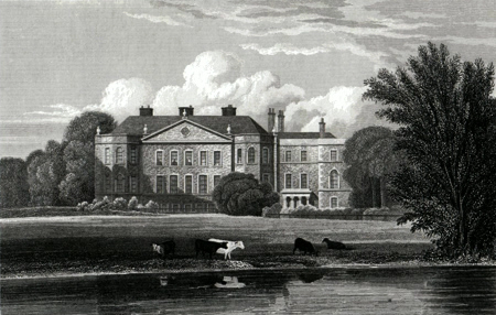 ANTIQUE PRINT: MARKEATON HALL. DERBYSHIRE.