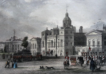 ANTIQUE MAP : HORSE GUARDS.