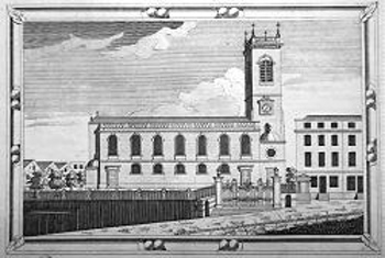 Antique print of St. Andrew Holborn