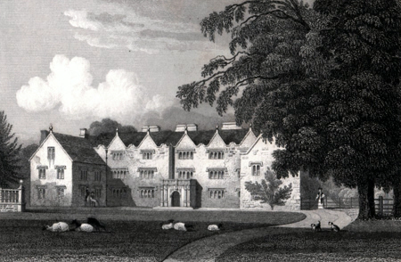 ANTIQUE PRINT: OAKLEY. NORTHAMPTONSHIRE.