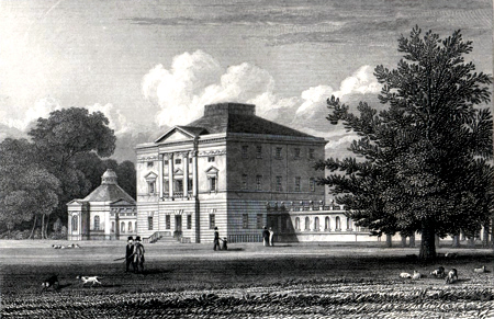 ANTIQUE PRINT: BUCKLAND HOUSE. BERKSHIRE.