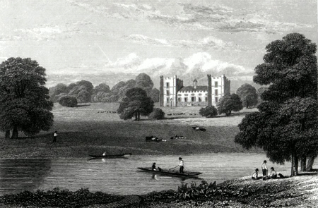 ANTIQUE PRINT: LUMLEY CASTLE. DURHAM.