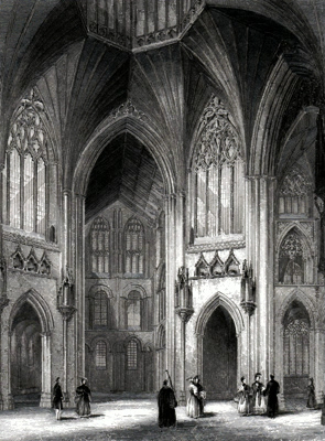 ANTIQUE PRINT: ELY CATHEDRAL. THE OCTAGON.