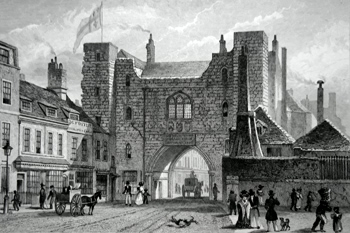 ANTIQUE PRINT: ST. JOHN'S GATE, CLERKENWELL.