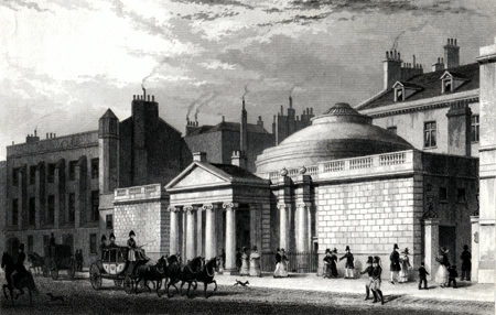 ANTIQUE PRINT: MELBOURNE HOUSE, AND PART OF THE OLD TREASURY, WHITEHALL.