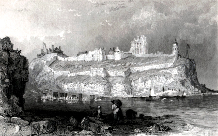 Antique print of Tynemouth