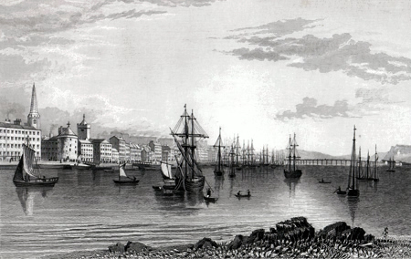 ANTIQUE PRINT: CITY OF WATERFORD, IRELAND.