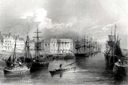 ANTIQUE PRINT: THE QUAY, YARMOUTH.