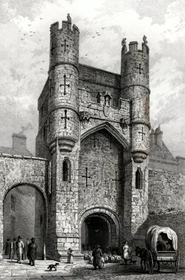 ANTIQUE PRINT: MONK BAR: – YORK.