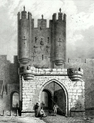 ANTIQUE PRINT: MICKLEGATE BAR. – YORK.