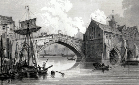 Antique print of York
