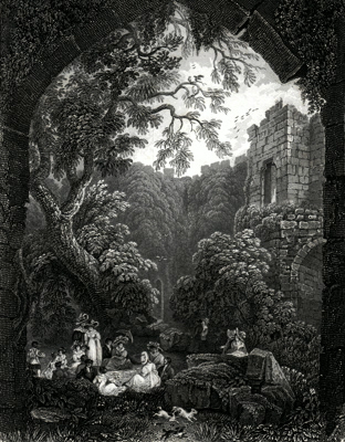 ANTIQUE PRINT: INTERIOR OF CLIFFORD'S TOWER. – YORK.