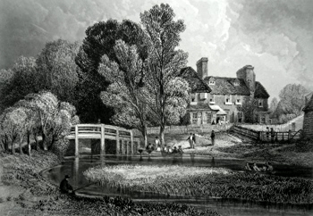 Antique print of Walthamstow