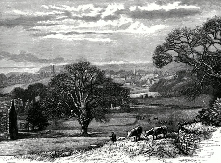 ANTIQUE PRINT: RICHMOND, FROM EASBY.