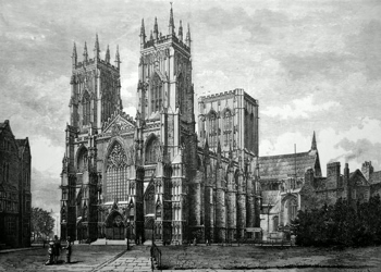 ANTIQUE PRINT: YORK MINSTER.