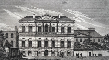 ANTIQUE PRINT: THE TREASURY IN ST. JAMES'S PARK.