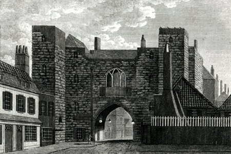 ANTIQUE PRINT: ST. JOHN'S GATE, IN CLERKENWELL, MIDDLESEX. PLATE 1.