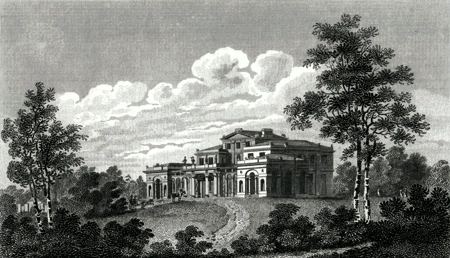 ANTIQUE PRINT: VILLA OF JOHN ROLLS, ESQ., NEW CROSS, KENT ROAD.