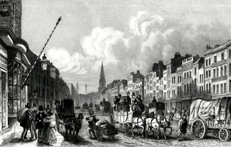 Antique print of Whitechapel