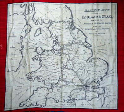 REED, W. – publisher : RAILWAY MAP OF ENGLAND & WALES, SHEWING THE ACTUAL & PROPOSED LINES, ALSO THE DISTANCES TO THE PRINCIPAL SEAPORTS OF FOREIGN STATES.