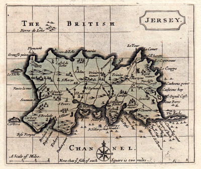 Antique map of the Channel Islands