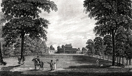 ANTIQUE PRINT: EMBER COURT, NEAR THAMES DITTON.