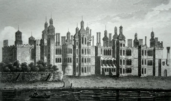 ANTIQUE PRINT: RICHMOND PALACE, BUILT BY KING HENRY VII.