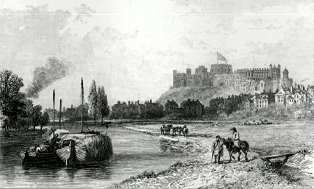 ANTIQUE PRINT: WINDSOR. IN 1812.