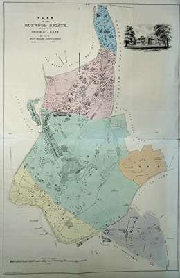 FIRTH, C.M. (Charles Mousley), 1792-1869 : PLAN OF THE HOLWOOD ESTATE, NEAR BROMLEY, KENT. FOR SALE BY MESS.RS HOGGART, NORTON & TRIST.
