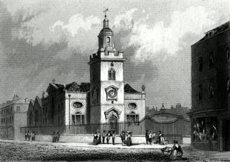 ANTIQUE PRINT: ST. MARY, WHITECHAPEL.