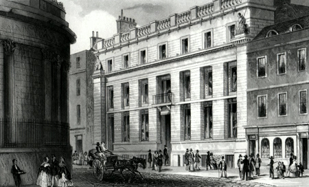 ANTIQUE PRINT: LONDON & WESTMINSTER BANK, LOTHBURY.