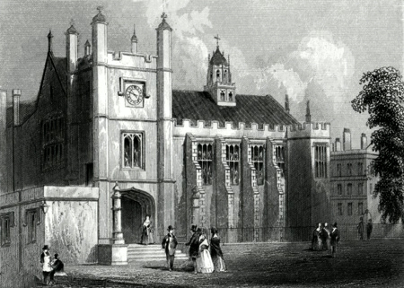 ANTIQUE PRINT: MIDDLE TEMPLE HALL.