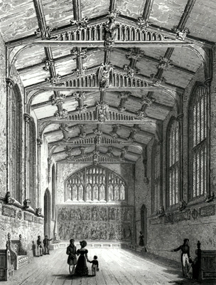 ANTIQUE PRINT: THE HALL OF ST. MARY HALL: – COVENTRY.