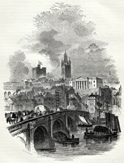 ANTIQUE PRINT: 7. – TYNE BRIDGE.