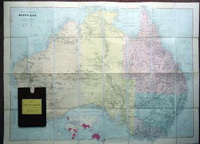 STANFORD, Edward, 1827-1904 : STANFORD'S GENERAL MAP OF AUSTRALIA.