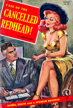 """DALY, Hamlin"" – [PRICE, Edgar Hoffmann, 1898-1988] : CASE OF THE CANCELLED REDHEAD."