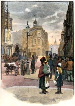 Antique print of Great Tower Street